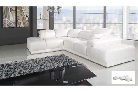 canapé d angle cuir blanc canapé d 39 angle blanc benley convertible canapés d