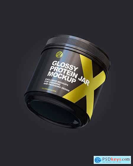 This is a free mockup file with the most unique form of design best to… Glossy Protein Jar Mockup 66847 » Free Download Photoshop ...