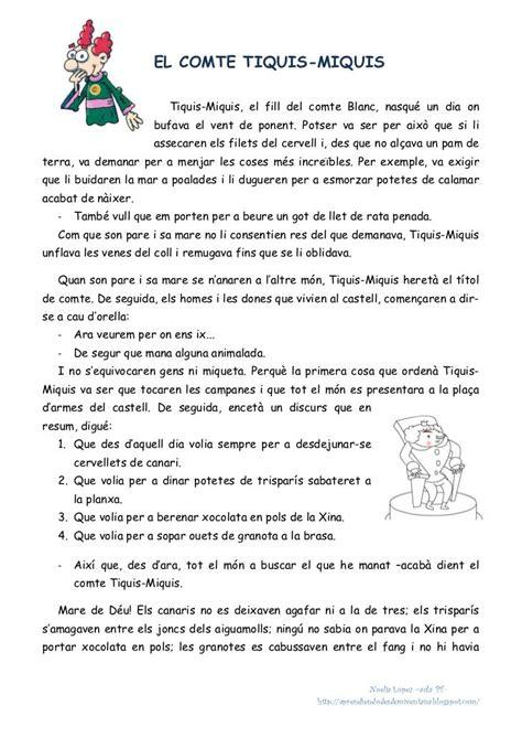 foto de Lectures comprensives 4t Primaria català Comprensión