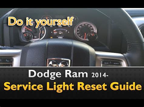 dodge ram  service indicator reset guide youtube