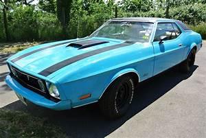 SOLD: 1973 Blue V8 Auto Mustang Grande - Essex Mustang Centre