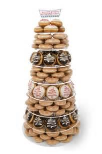 Diy Cake Stands For Wedding by Krispy Kreme Uk Christmas Doughnut Tower Donut Display