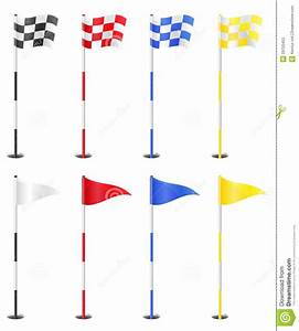 Golf Flags Vector Illustration Stock Photos - Image: 29755453