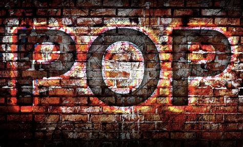 Pop Music On The Wall Background  Stock Photo Colourbox