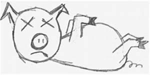 Dead Pig Head Cartoon