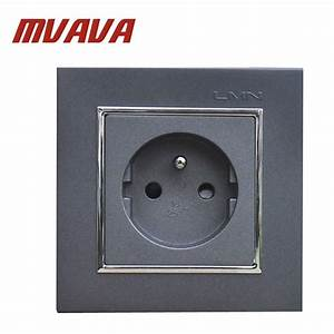 Mvava French Standard Wall Power Socket Electrical Wiring Outlet Ac 110