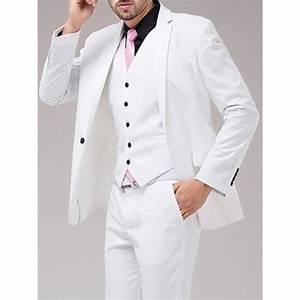 Costume Homme Mariage Blanc : costume homme mode seul bouton costumes 3 pi ces de mariage marque costumes d 39 affaires pour ~ Farleysfitness.com Idées de Décoration
