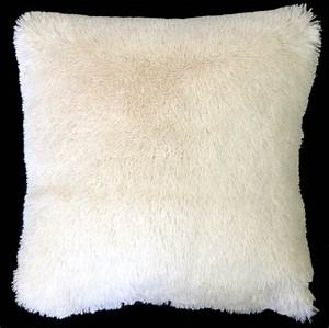 Soft Plush Cream 20x20 Throw Pillow from Pillow Decor