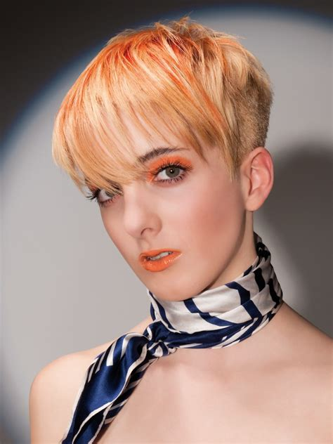 Hairstyles For With Hair by With Orange Hair With Clipped Sides And Back