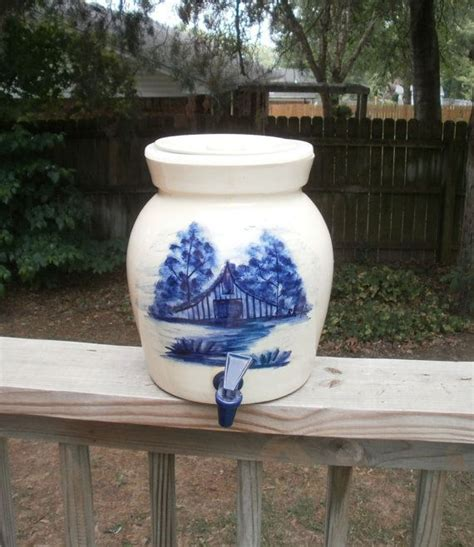 Vintage Paul Storie Pottery Marshall Texas Water Crock ...