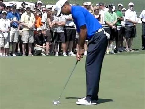 Tiger Woods Putting Technique