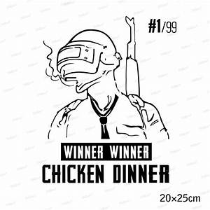 Winner Winner Chicken Dinner Vinyl Sticker - CosplayHero