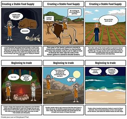 Neolithic Comic Strip Storyboard