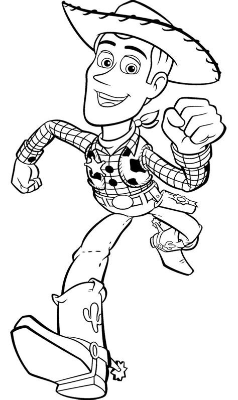toy story woody runs fast coloring page kids coloring