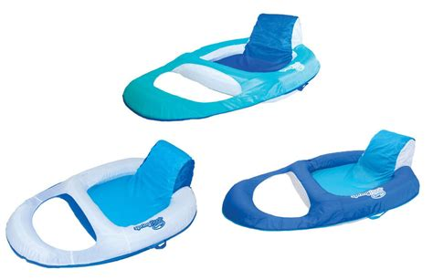 swimways spring float recliner floating pool lounge chair