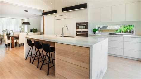 cuisine kitch modern kitchen in walnut mdf ateliers jacob calgary