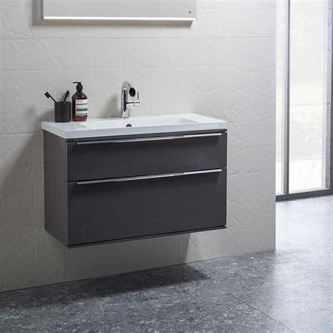 Roper Vanity Unit by Roper Scheme 600mm Matt Carbon Wall Mounted Vanity