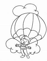 Parachute Coloring Clipart Colouring Popular Designlooter Library Parachuting sketch template