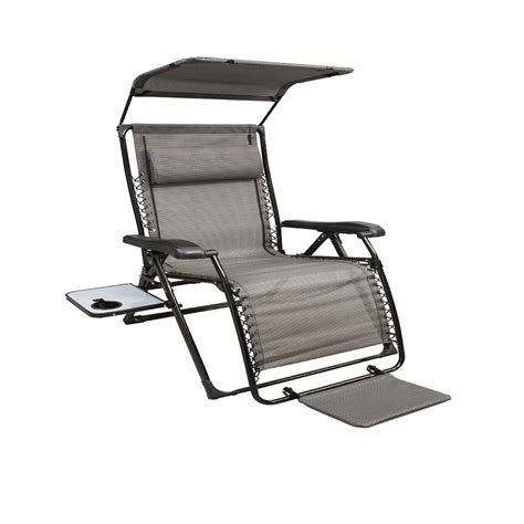 Lawn Chair With Canopy And Footrest the home depot xl zero gravity chair with canopy with