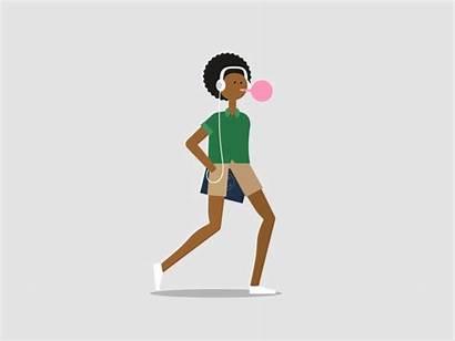Animated Motion Gifs Walk Cycle Anya Dribbble