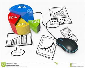 Business Graphs And Charts Stock Illustration