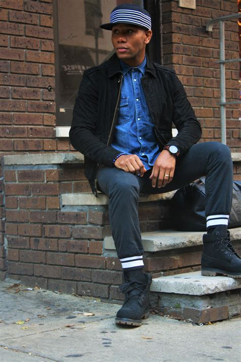 Trending Black Blue Color Combo Streetwear Inspired