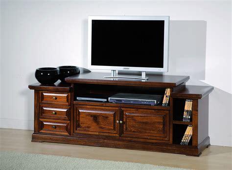 Porta Televisore In Legno by Porta Tv In Legno Massello Noce Arte Povera Cm 155x62