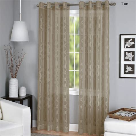 sheer curtain panels with grommets latique sheer grommet curtain panels