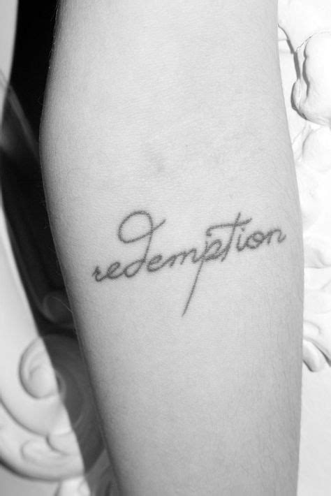 "Model Freja Beha Erichsen's forearm tattoo saying ""Redemption"". | Tattoos, Tattoo designs, Word"