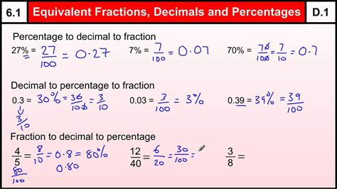 Equivalent Fractions And Decimals  Lessons  Tes Teach