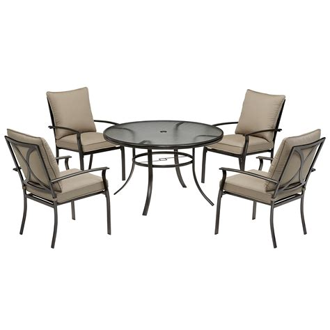 garden oasis harrison 5 cushion dining set