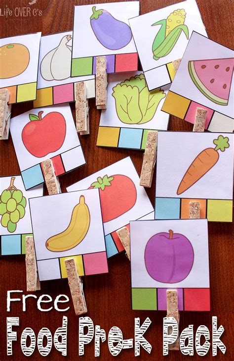 food and activities free printables for preschoolers 954 | ee09e987b4055823233a897f2231f618