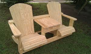 double adirondack chair plans bing images