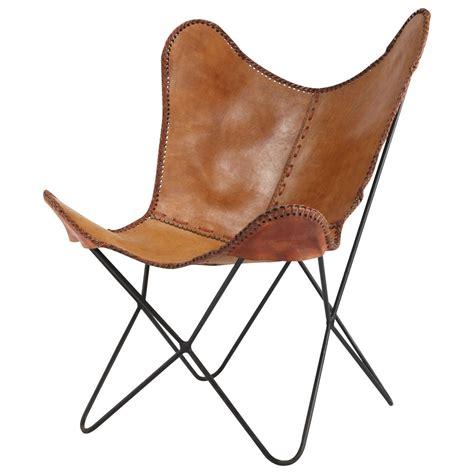 fauteuil en cuir camel santiago maisons du monde