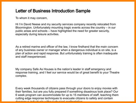 write  business introduction email