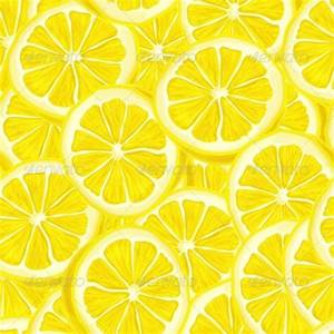 Sliced Lemon Seamless Background by macrovector | GraphicRiver