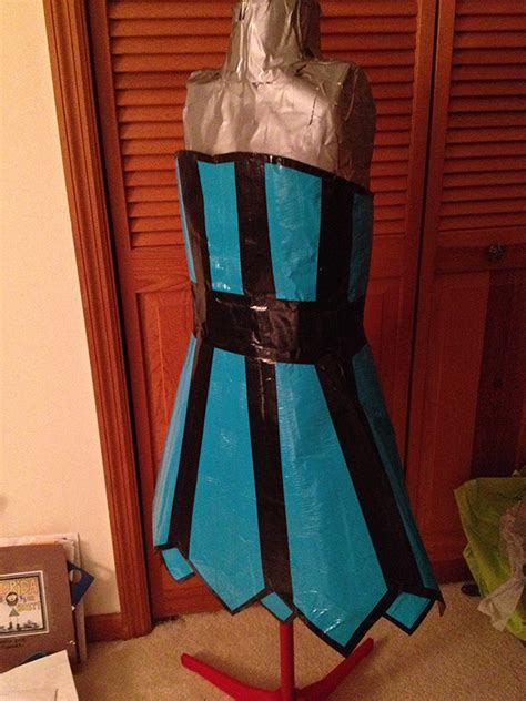 duct tape strapless corset dress  duct tape dress