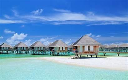 Maldives Tropical Resort Bungalow Nature Sea Landscape