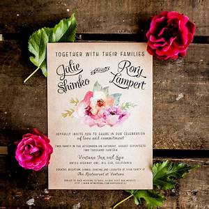 items similar to rustic wedding invitation vintage wedding With etsy watercolour wedding invitations