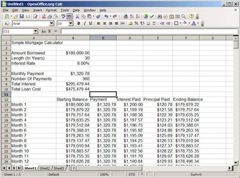 An Introduction To Compound Interest With Spreadsheets, Part 3 A Simple Mortgage Calculator