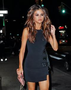 Selena Gomez in a Short Dress - Night Out in NYC - 03 June ...