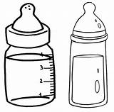Coloring Baby Bottles Fun Pages sketch template