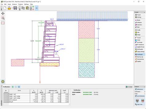 wall design software muro redi rock freeware geo5 software geot 233 cnico fine