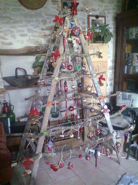 ladder  christmas tree recyclart