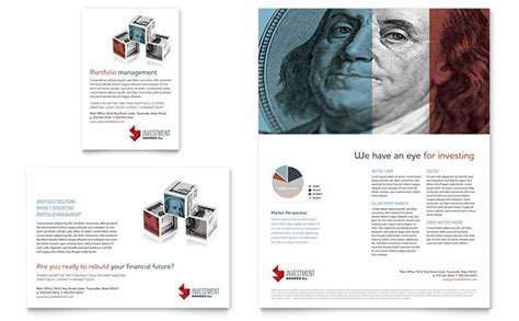 investment bank flyer ad template design