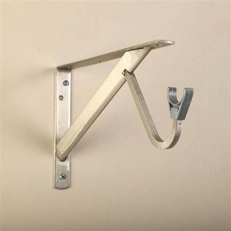 closet rod bracket closet pro 11 1 4 in heavy duty brushed nickel shelf and