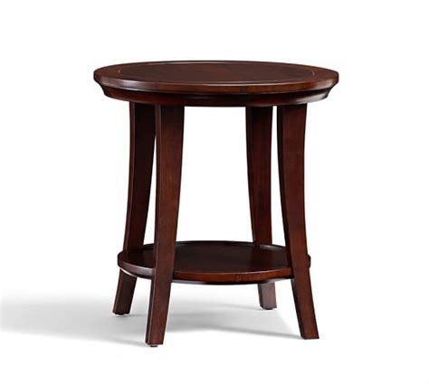 metropolitan round side table pottery barn