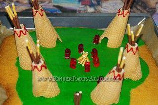 indianer kuchen pipas pinnwand diy kindergeburtstag