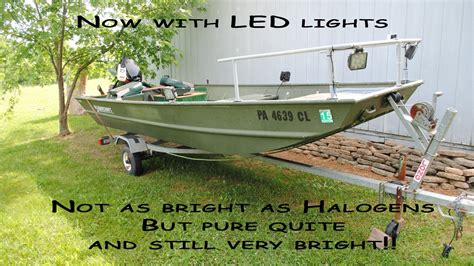 Jon Boat Light Requirements by How We Built Our Bowfishing Jon Boat We Since