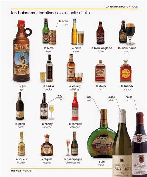 vocabulaire cuisine les boissons alcoolisées vocabulaire cuisine manger